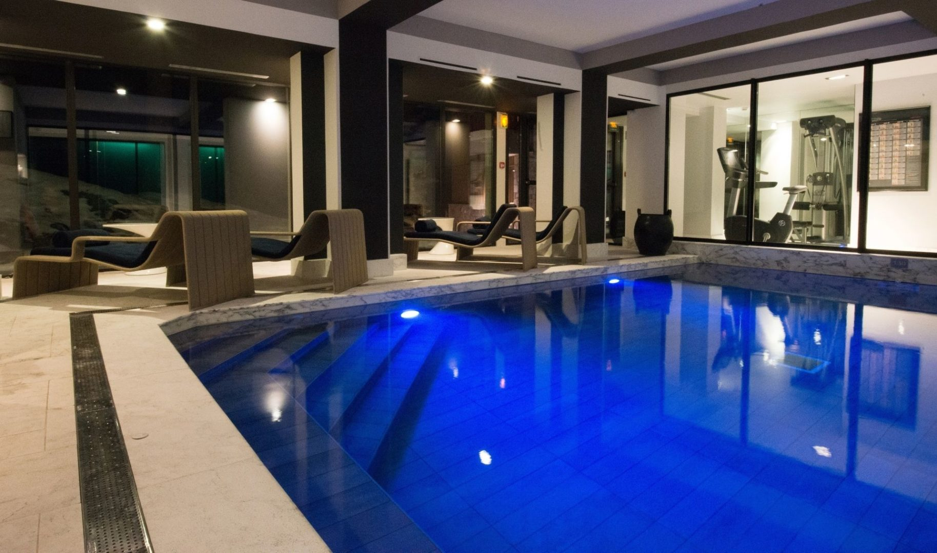 Well-being area pool