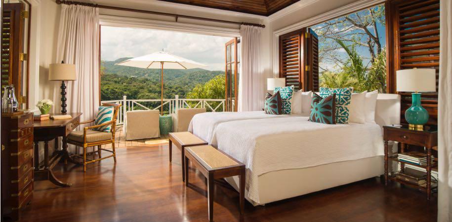 A premium luxury villa bedroom