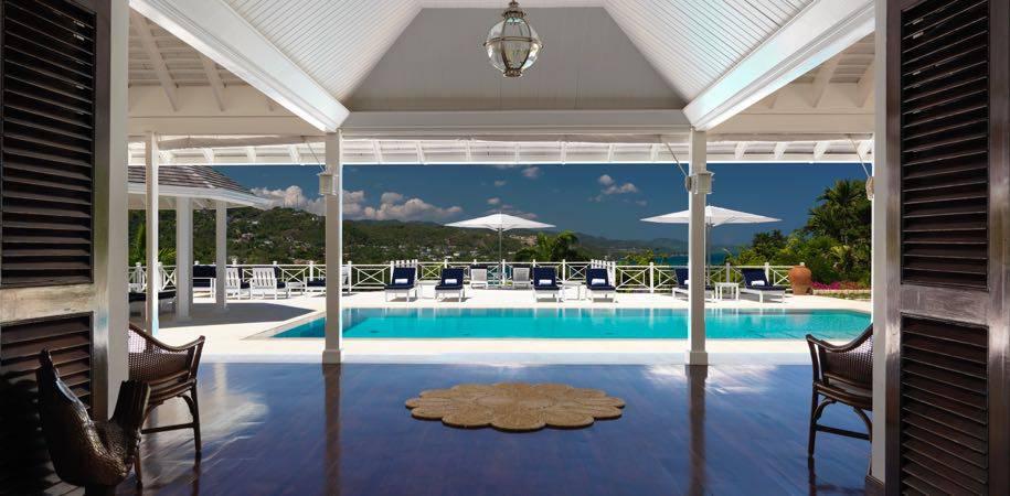 Classy villa pool decks
