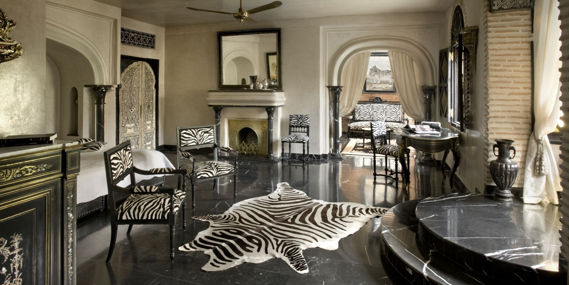 Individually styled rooms