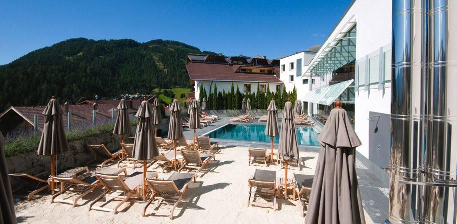 The panoramic heated pool
