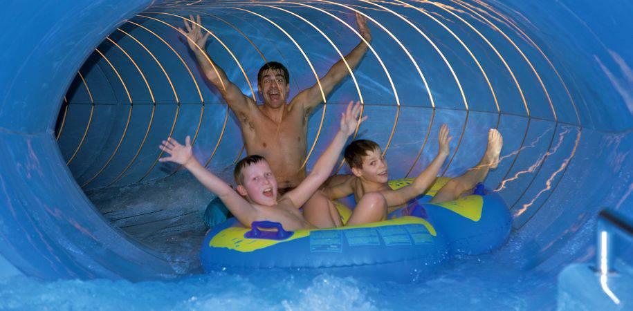 Man sized water slide!