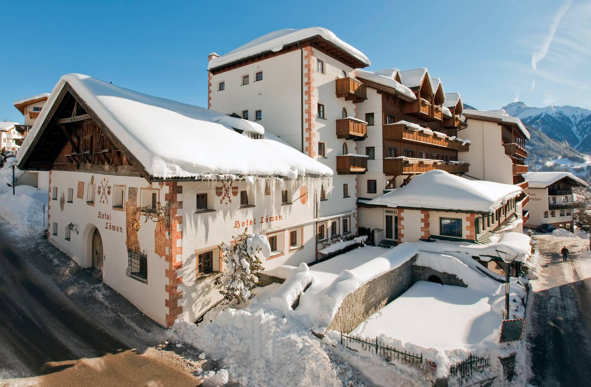 The hotel in winter
