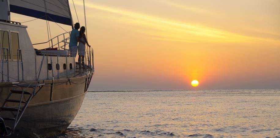 Enjoy a sunset cruise aboard the Ocean Whisperer