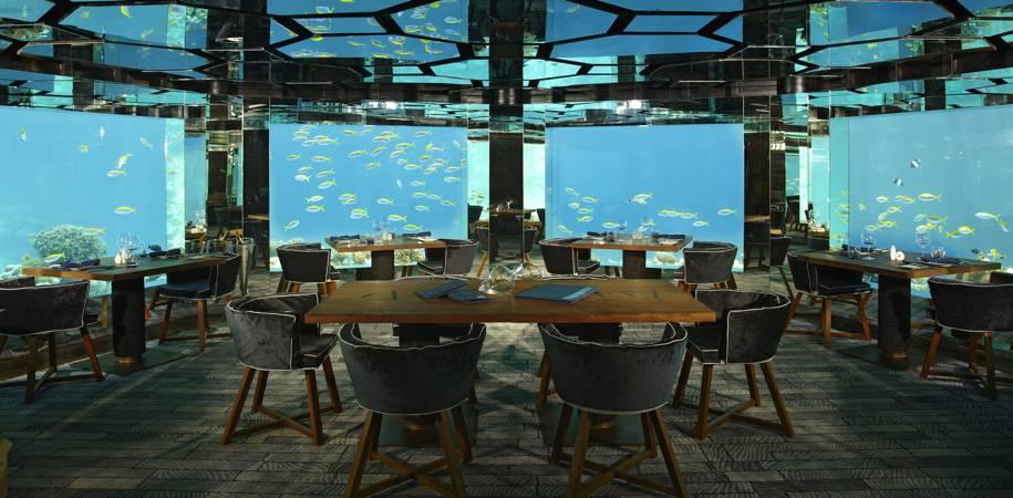 The unique 'Sea' restaurant