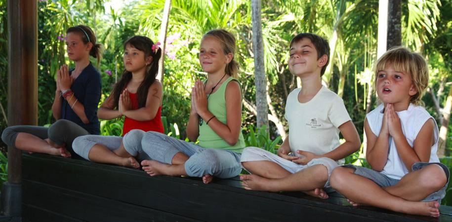 A kids club Yoga session