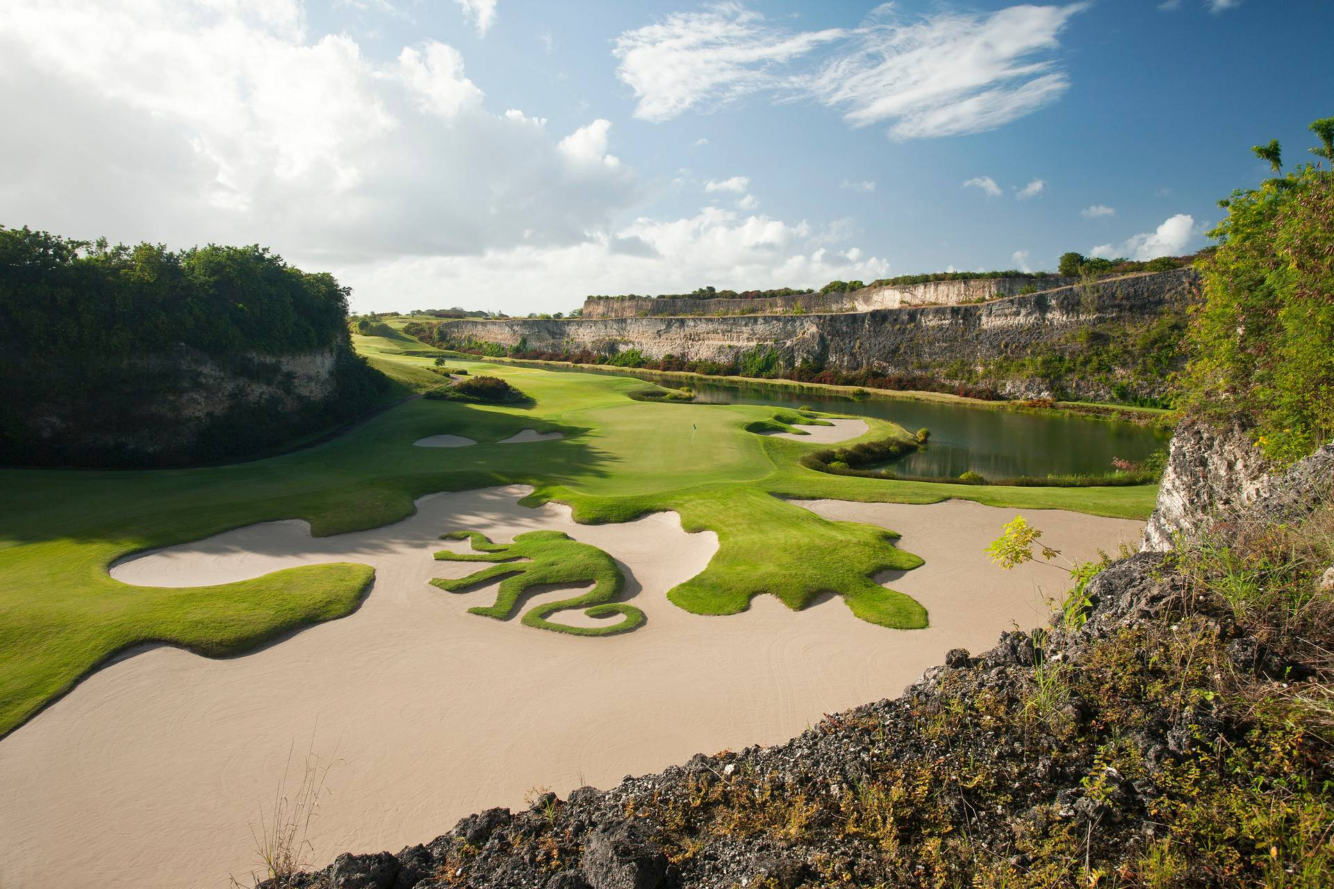 The 16th hole on the Green Monkey