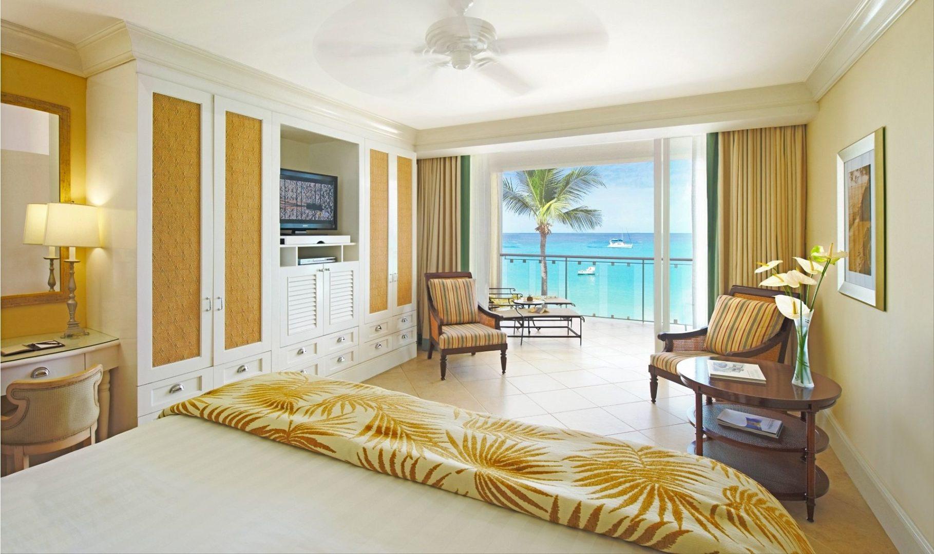 An Oceanfront deluxe room