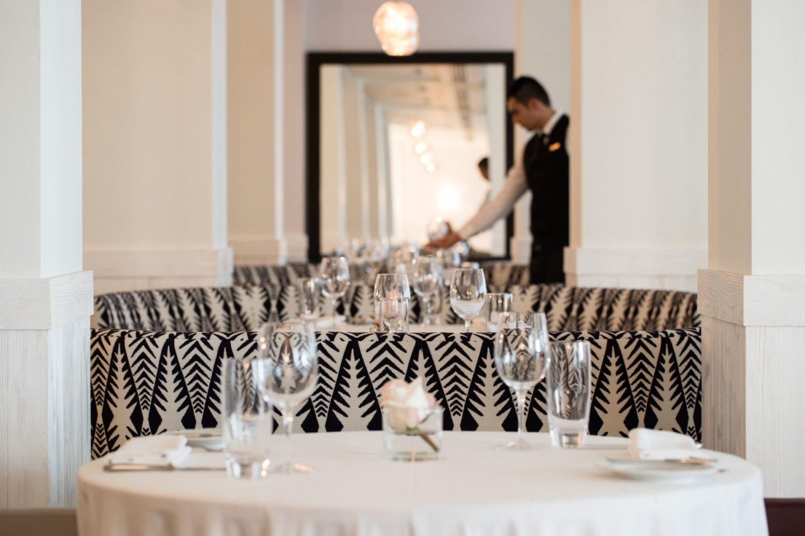 Service at Amarosa Restaurant