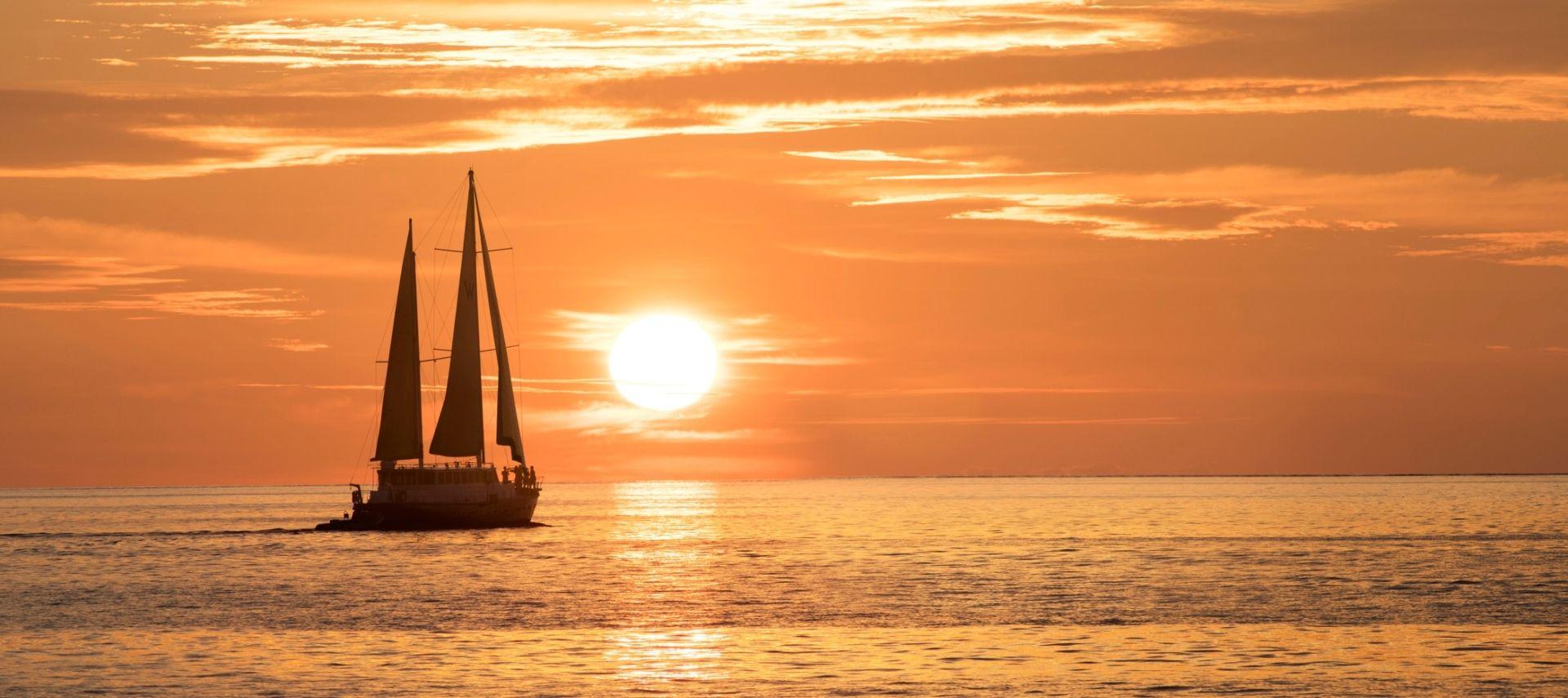 ESCAPE yacht sunset