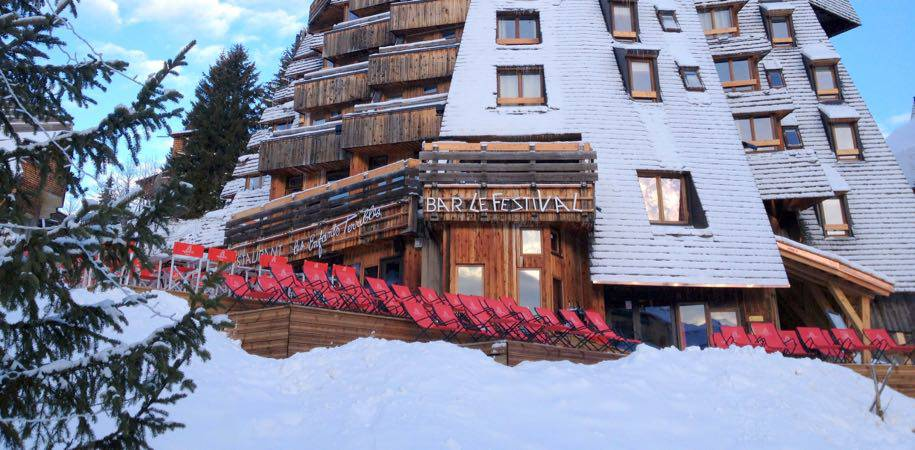 The hotel in winter