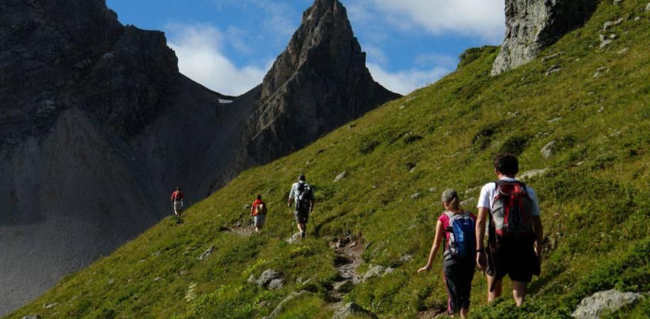 hill walking in summer