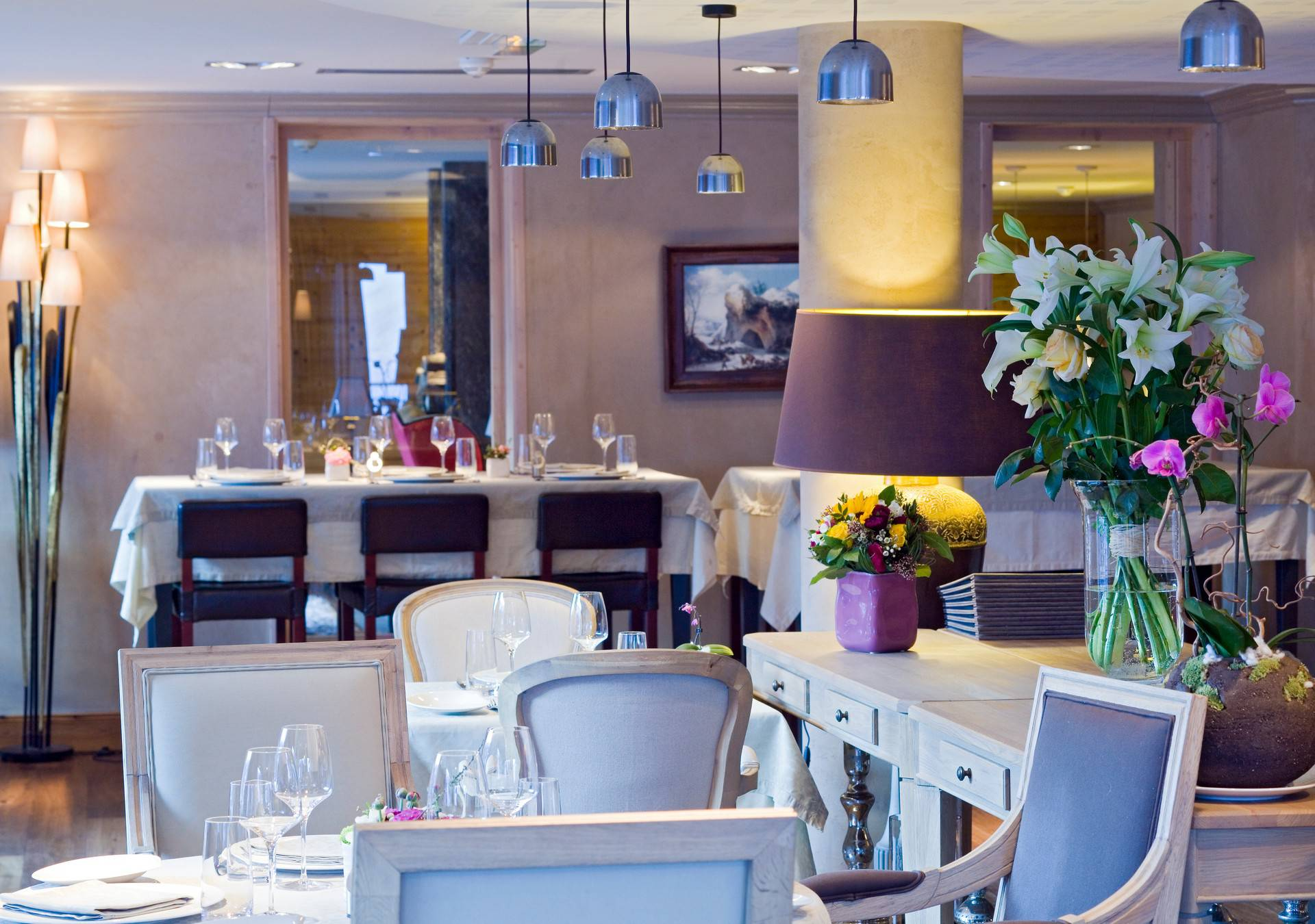 Dine in sumptuous surroundings