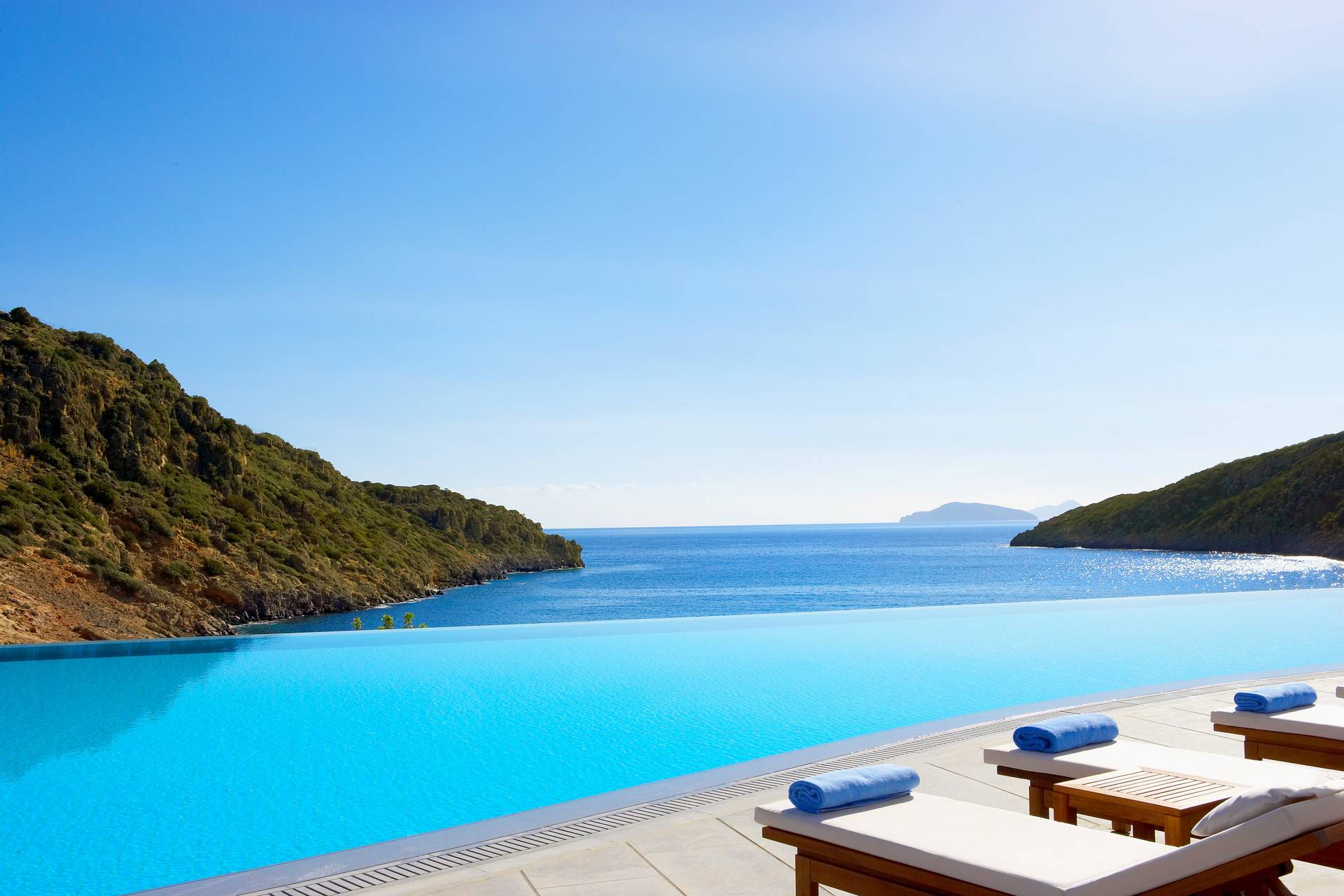 Infinite views from the main pool