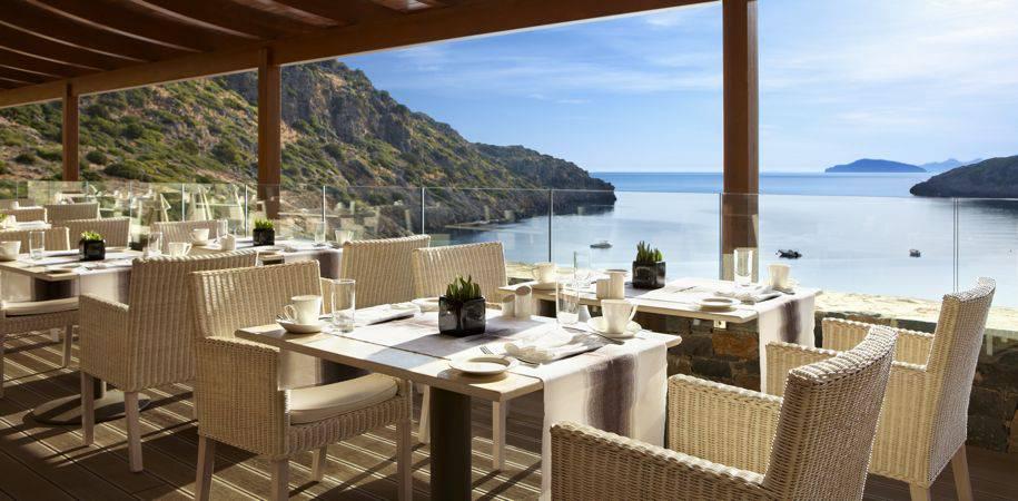 Fine dining at the Ocean restaurant