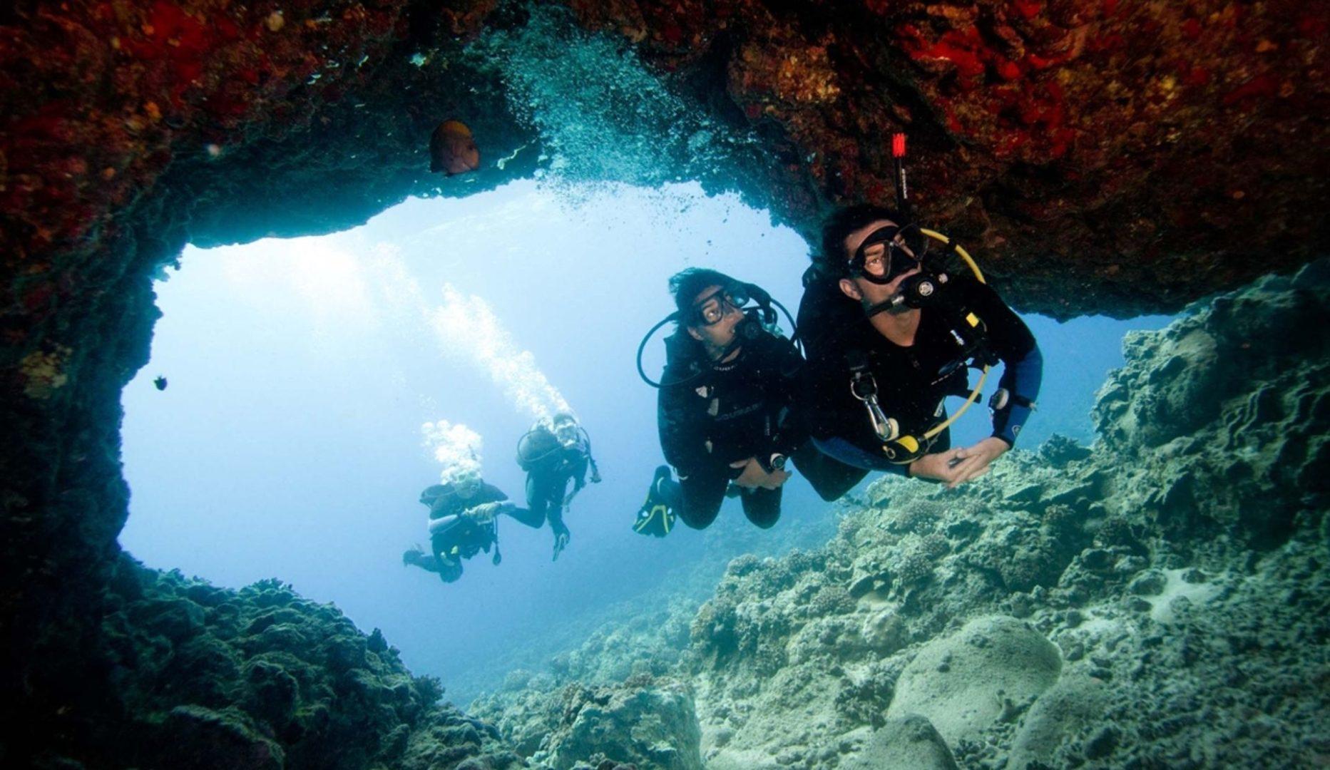 Excellent scuba diving