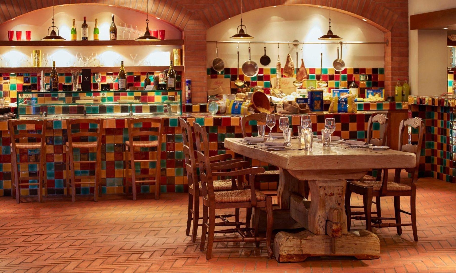 The relaxed Da Luigi restaurant