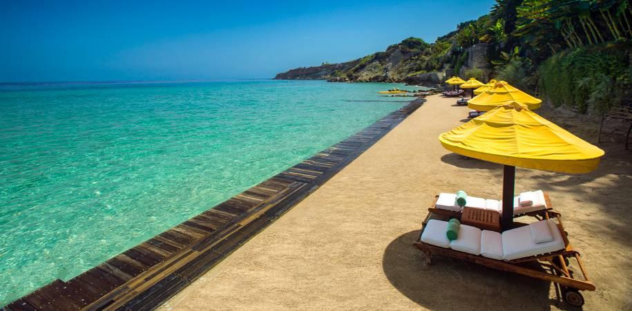 Porto Zante's private beach