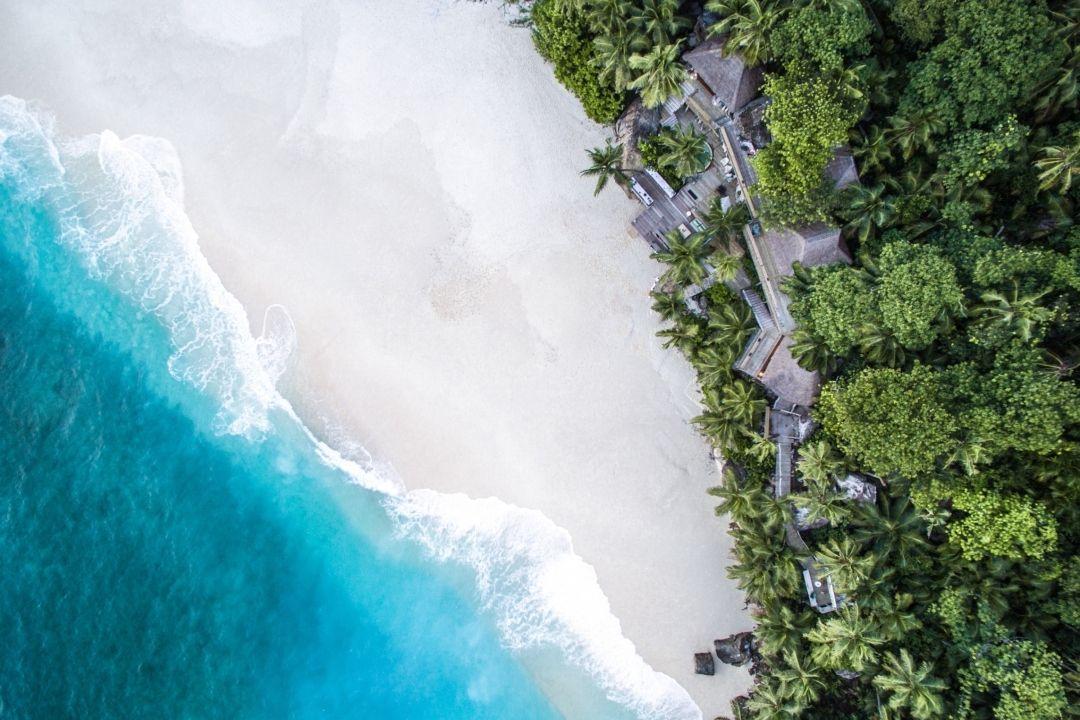 Aerial shot of a villa