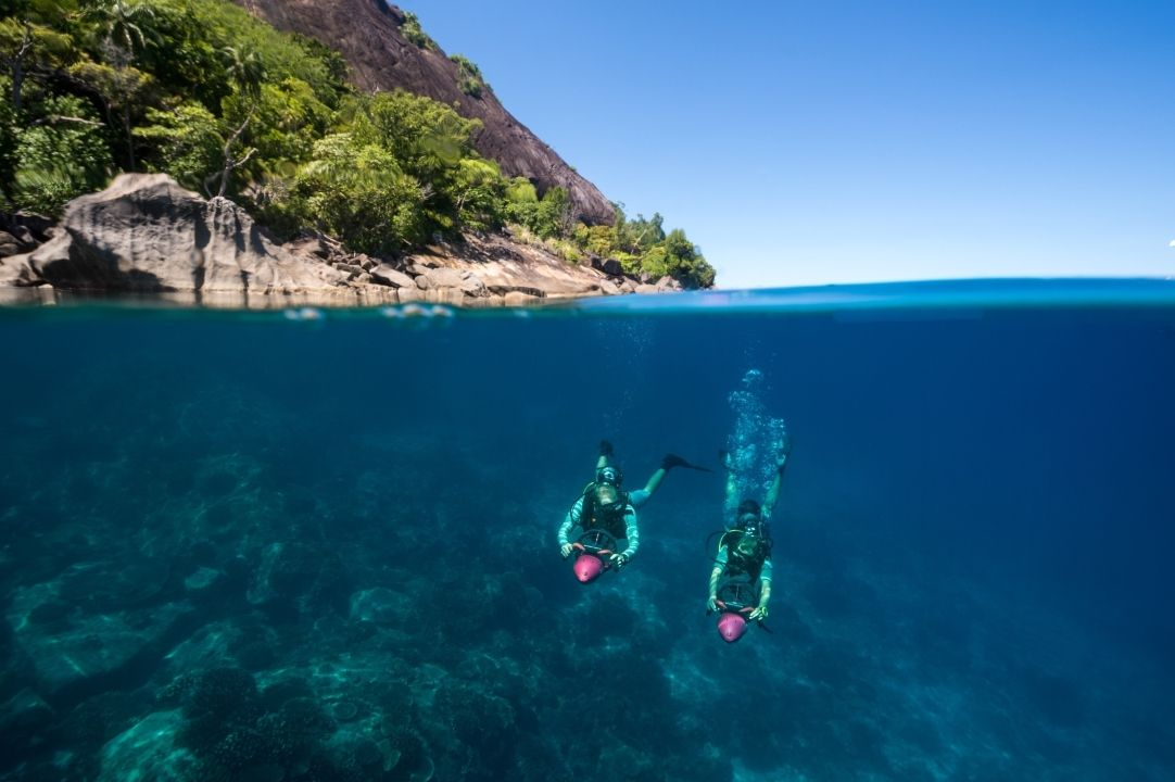Snorkelling with a difference