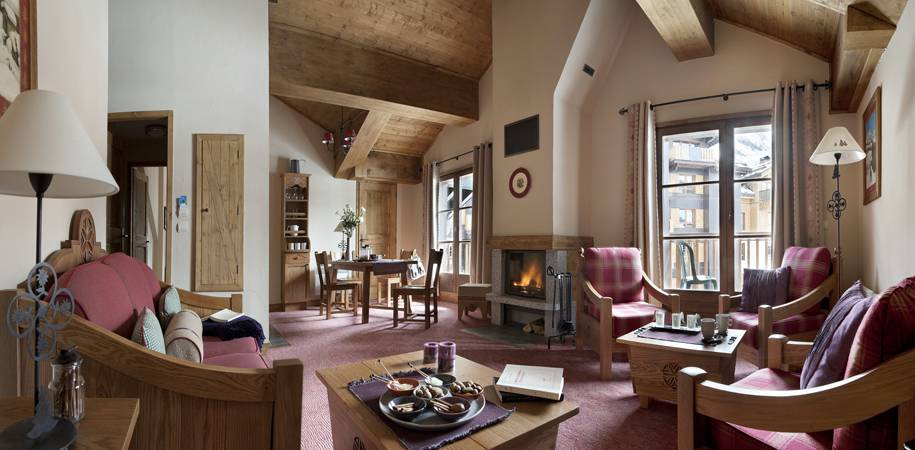 A Residence Chalet des Lys apartment living Area