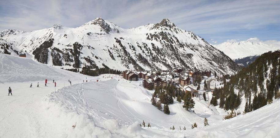 A view of the resort from the pistes