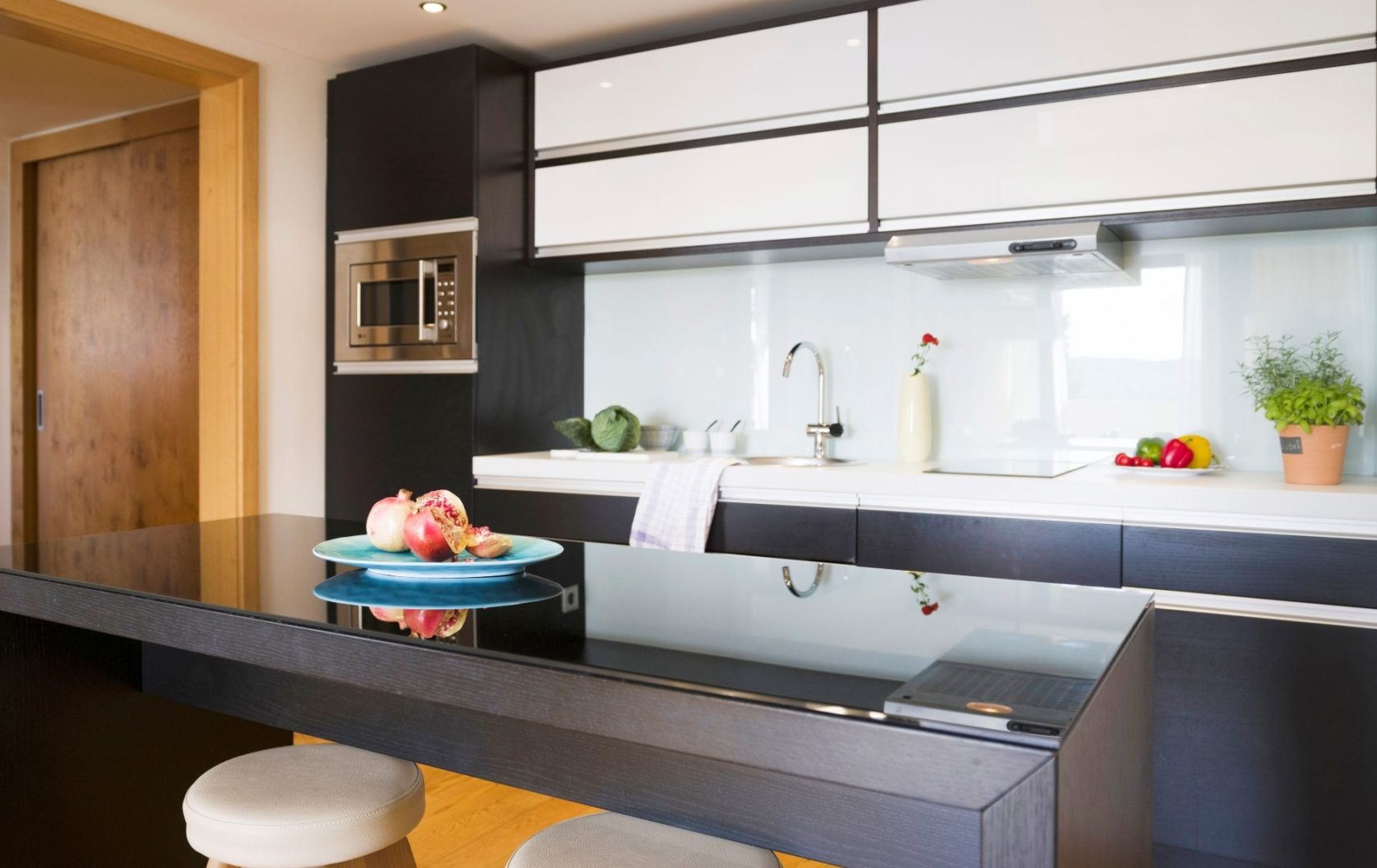 The kitchenette in a One bedroom seaview