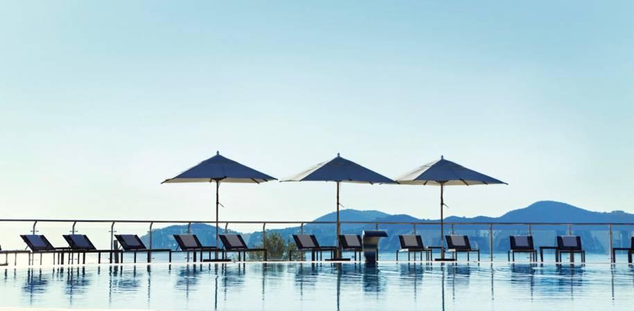 The resort's stunning Sunset Pool