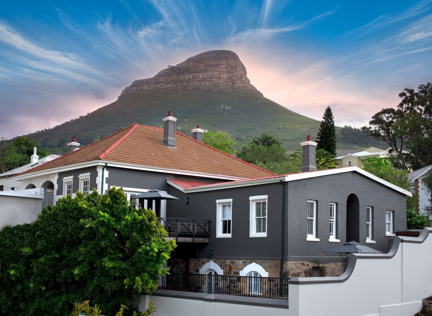 Lions Head looms over the hotel