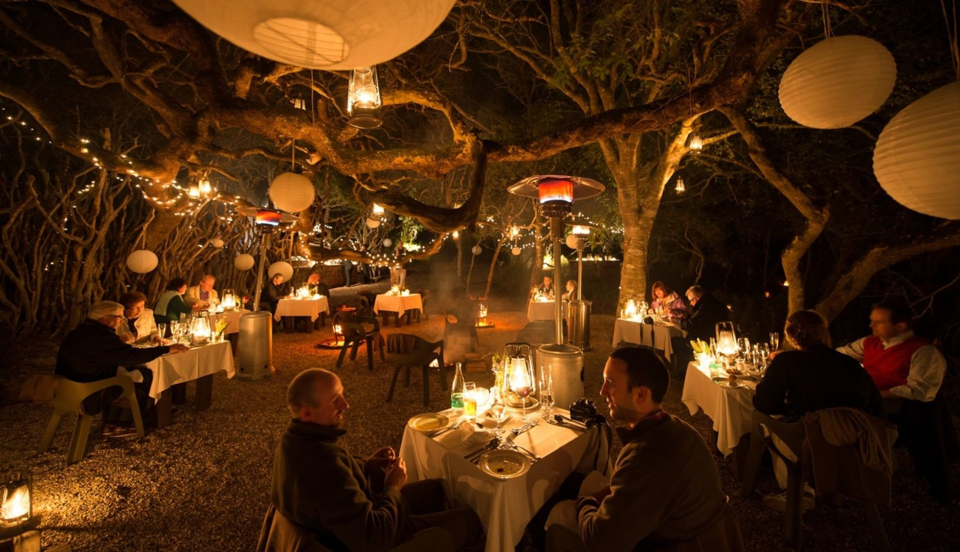 Dining in the Boma