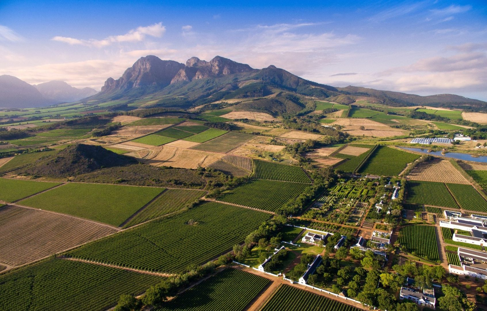 Babylonstoren with Simonsberg in the background