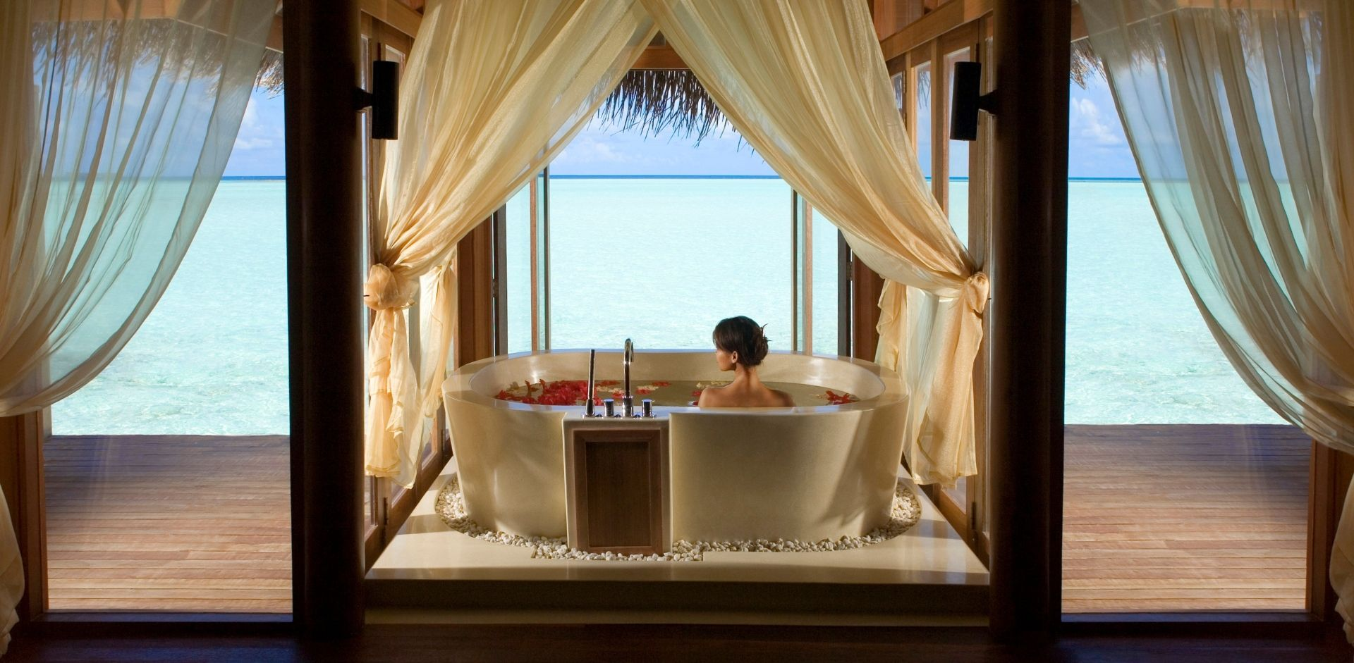 Bliss at the over water Spa