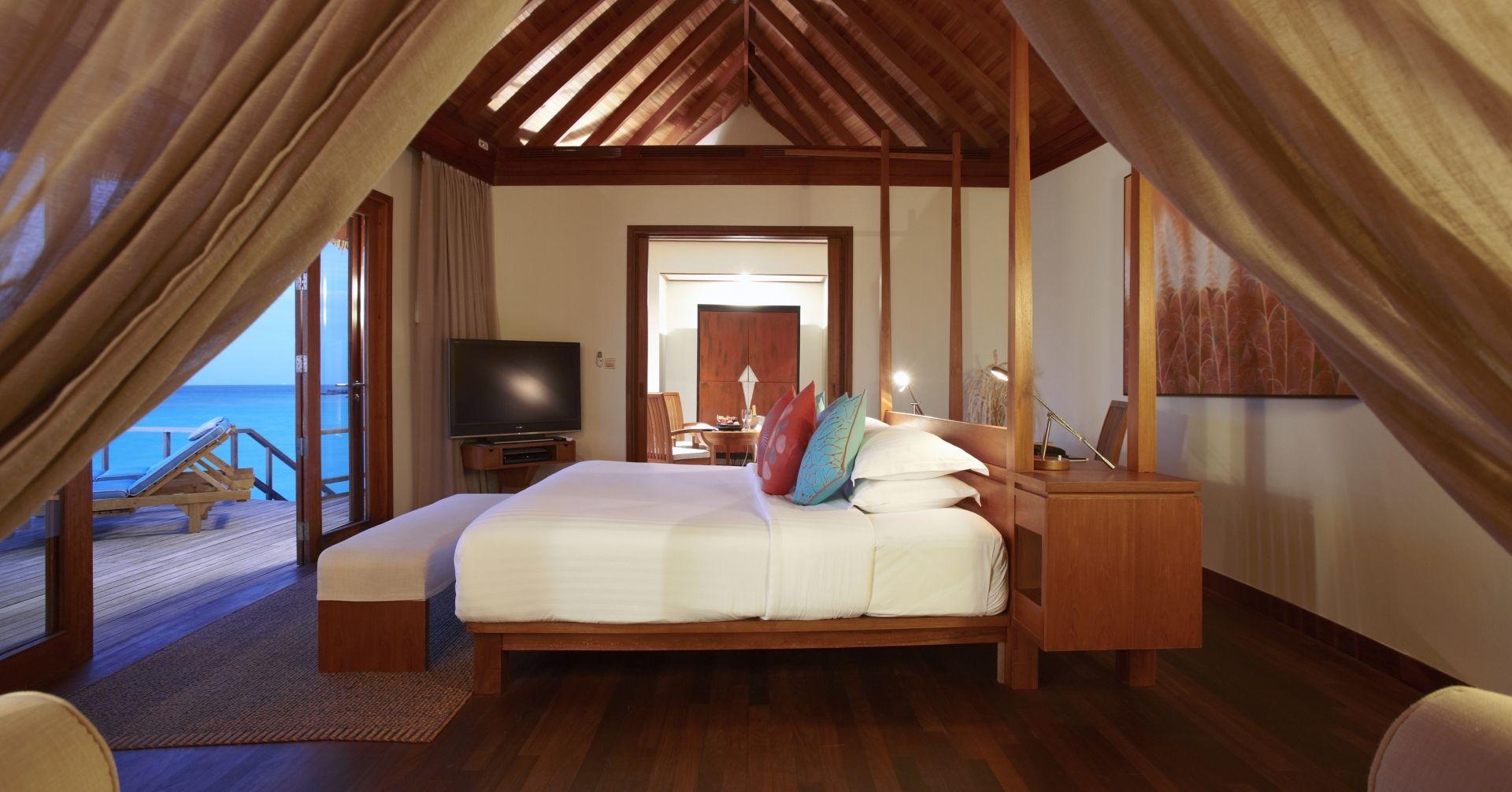 An Over water suite bedroom