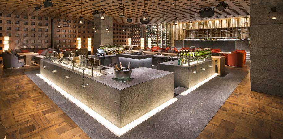 Inside ZUMA restaurant