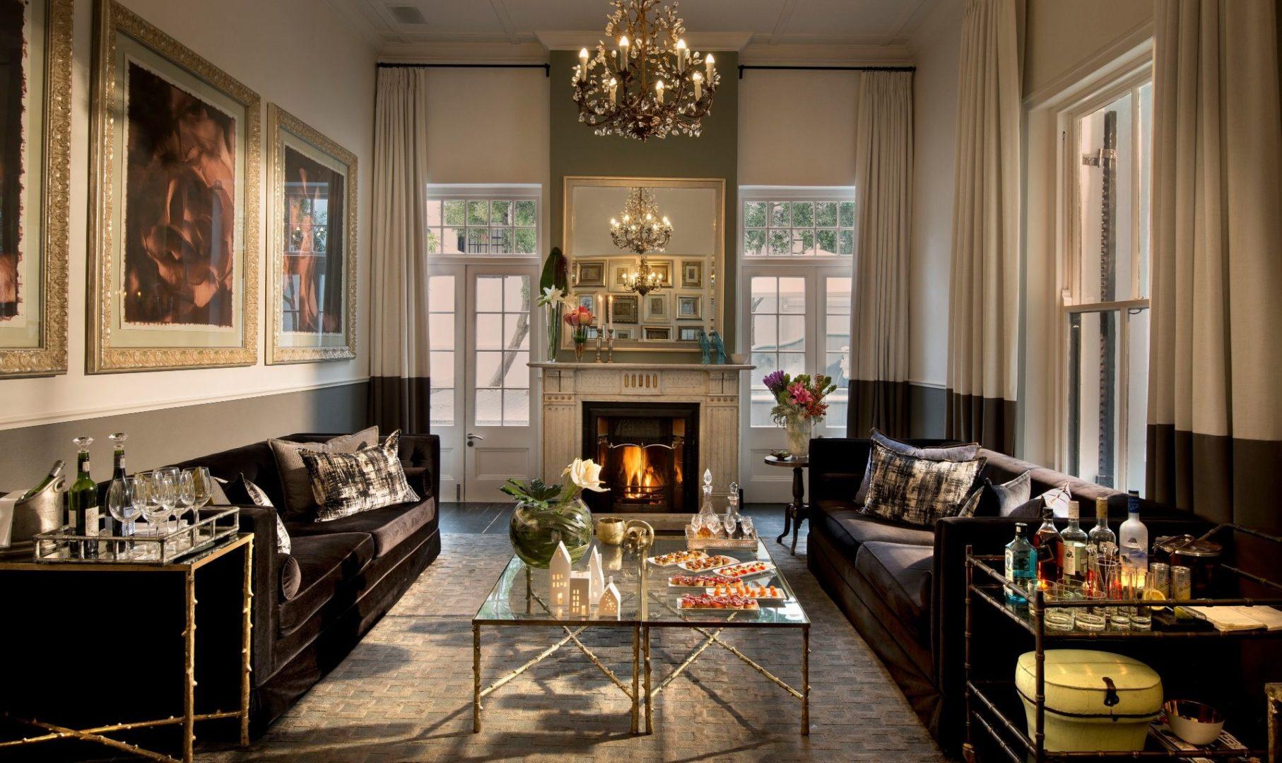 The impressive lounge