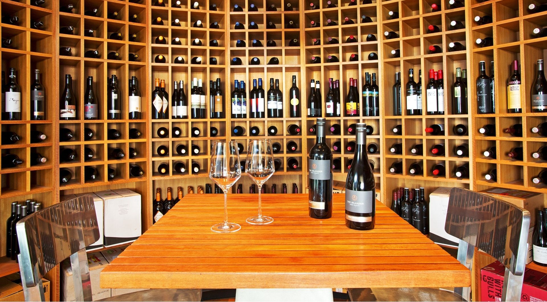 A extensive Wine Cellar