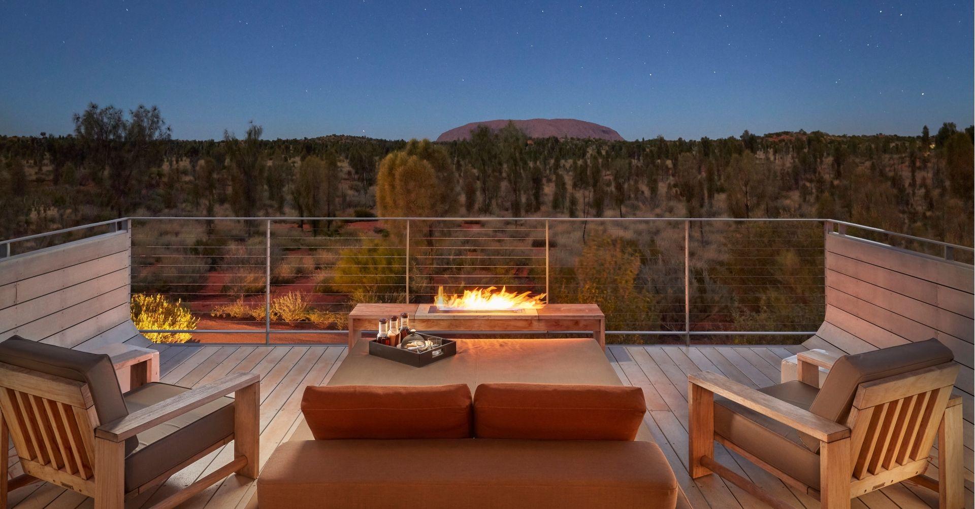 Terrace on an evening