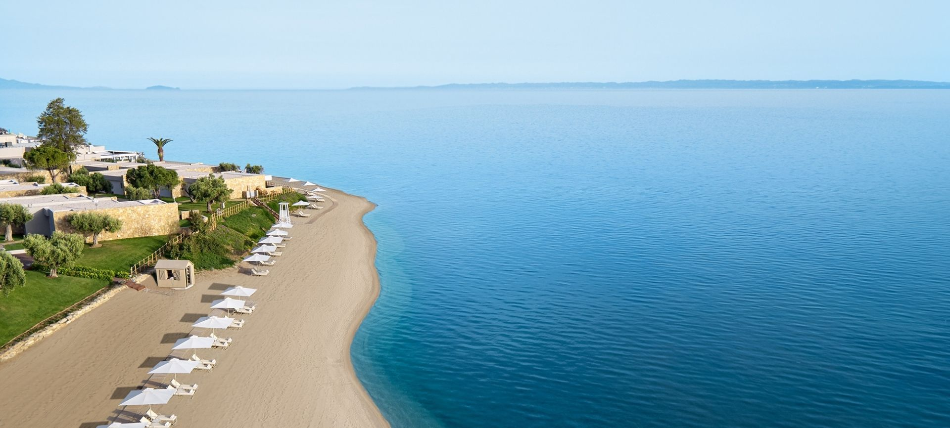 Ikos Olivia Aerial of the Beach Deluxe