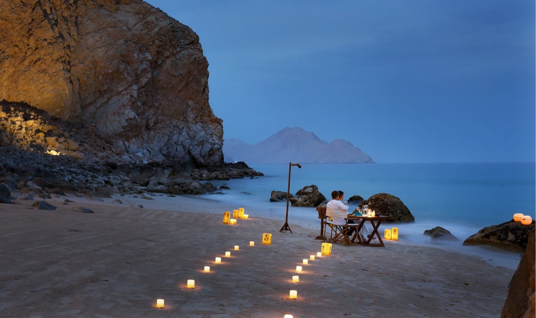 Private dining on the sea shore