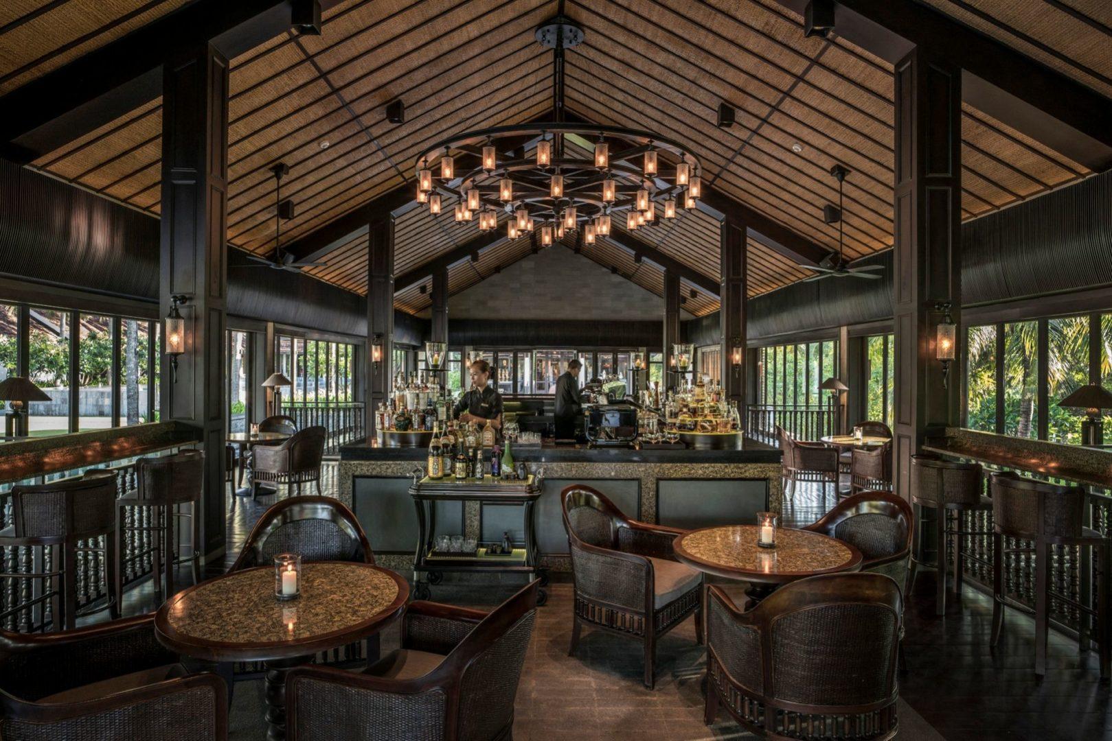 The inviting resort bar