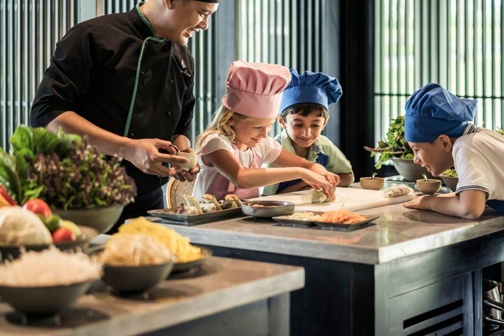 A Kids cookery class