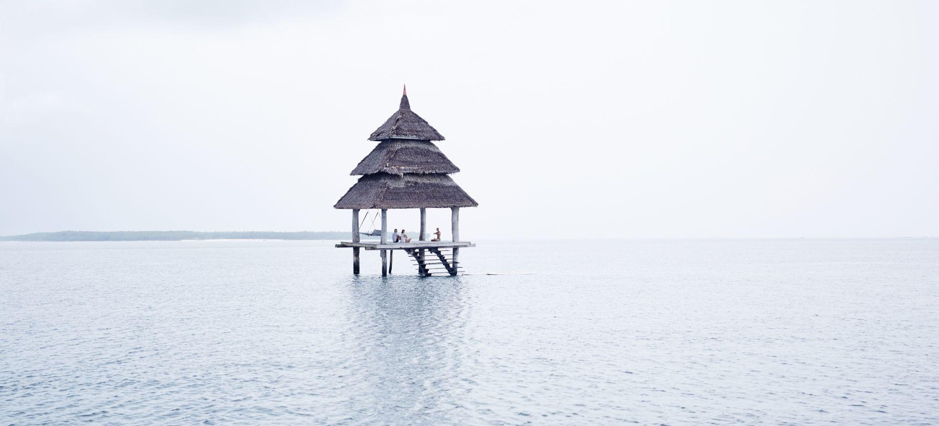 Meditation in the sea pagoda