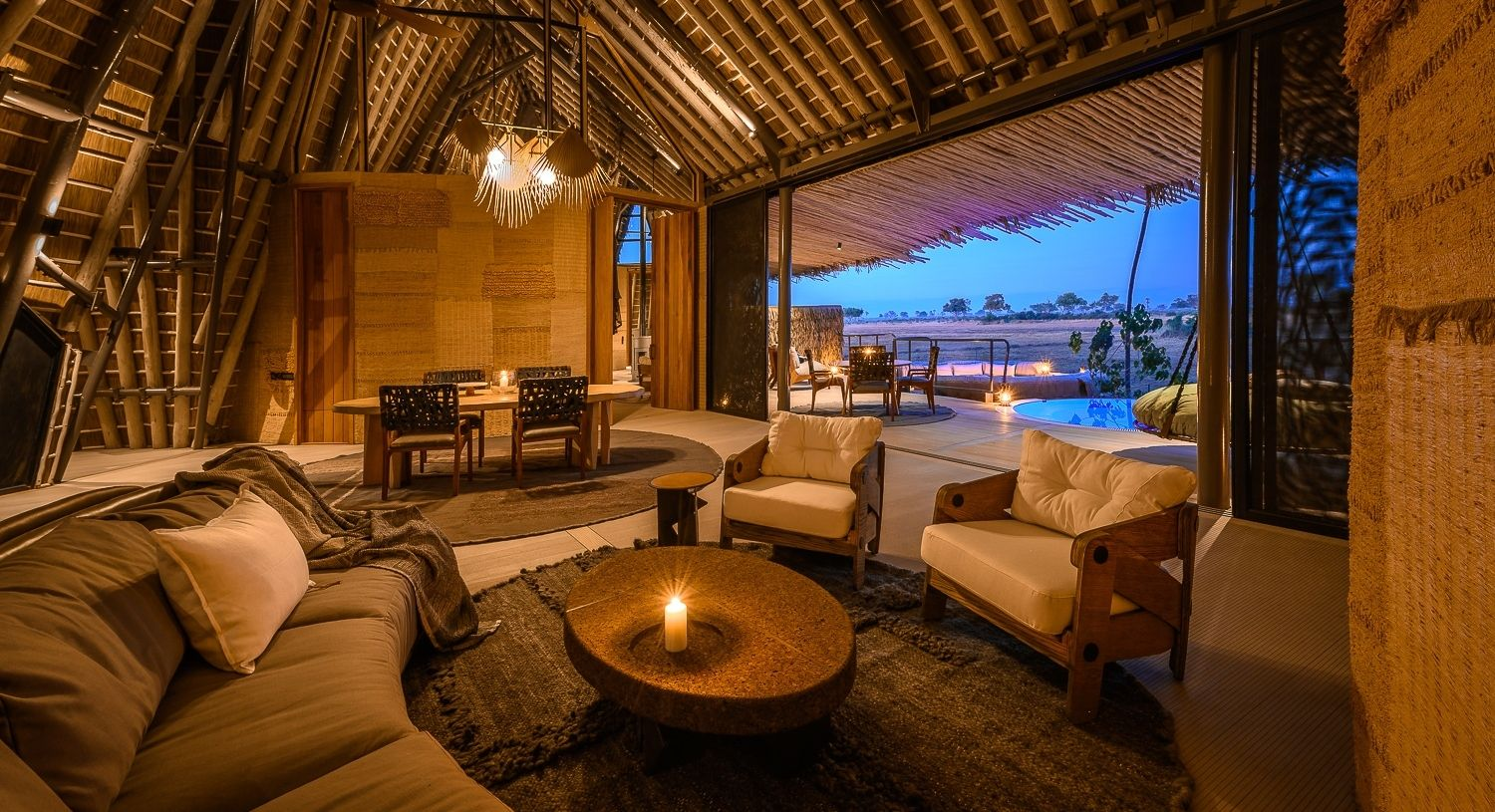 The lounge area of a 2 bedroom villa