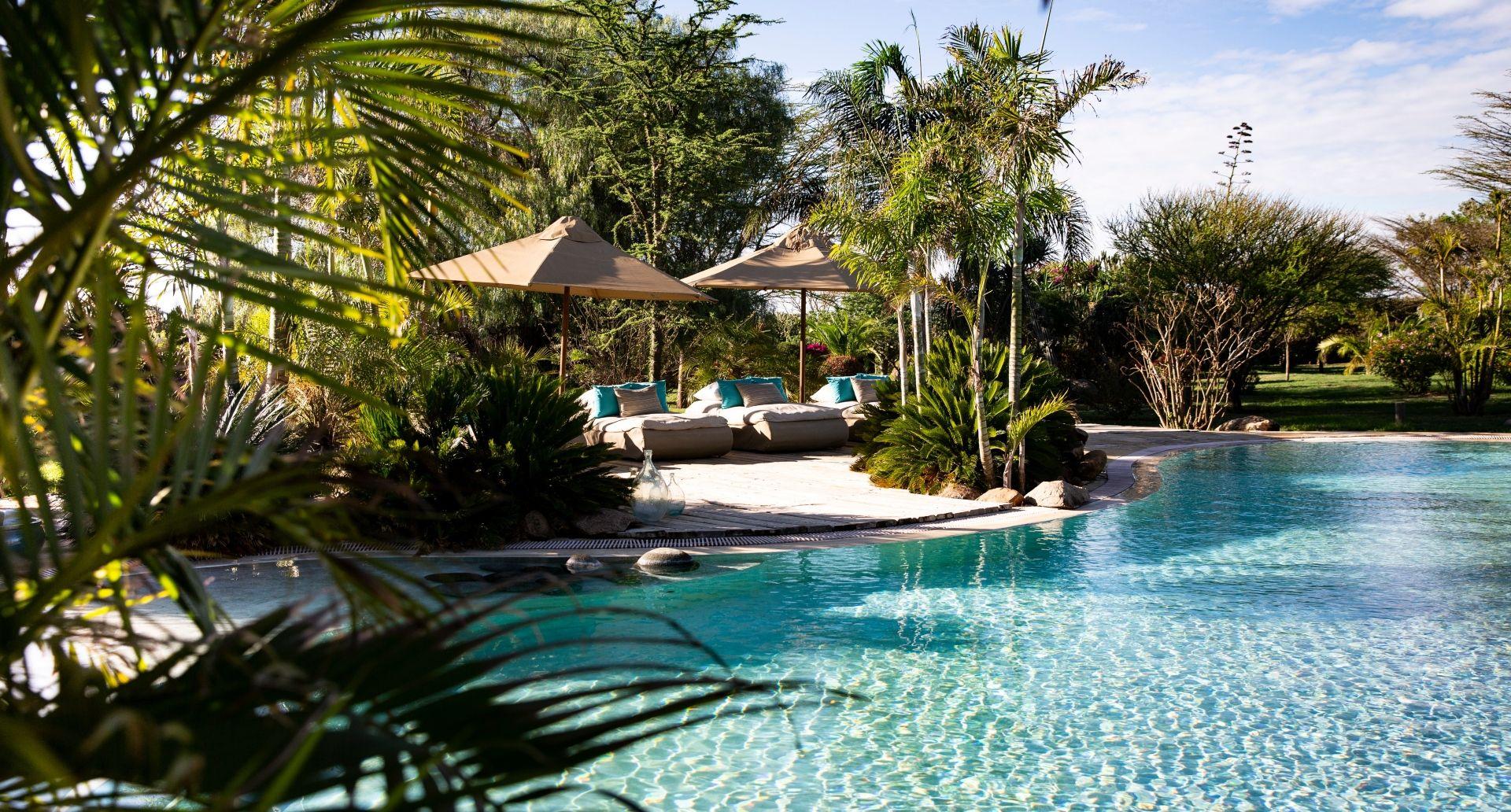 Garden Villas share a central pool