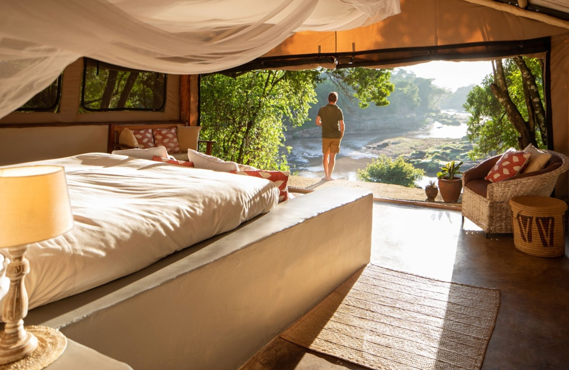 River Cottage views from your tented room (Photo Credit: Silverless)
