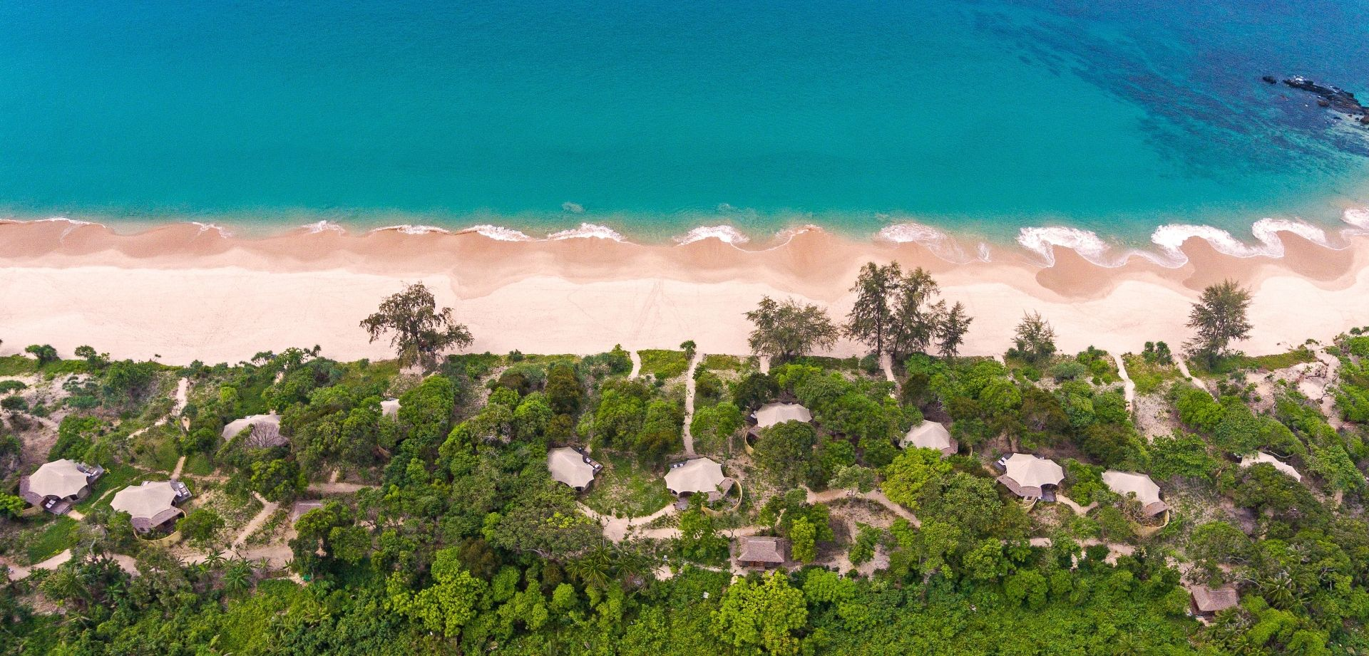 Aerial view of the Beach Villas (Photo Credit: Scott A Woodard)