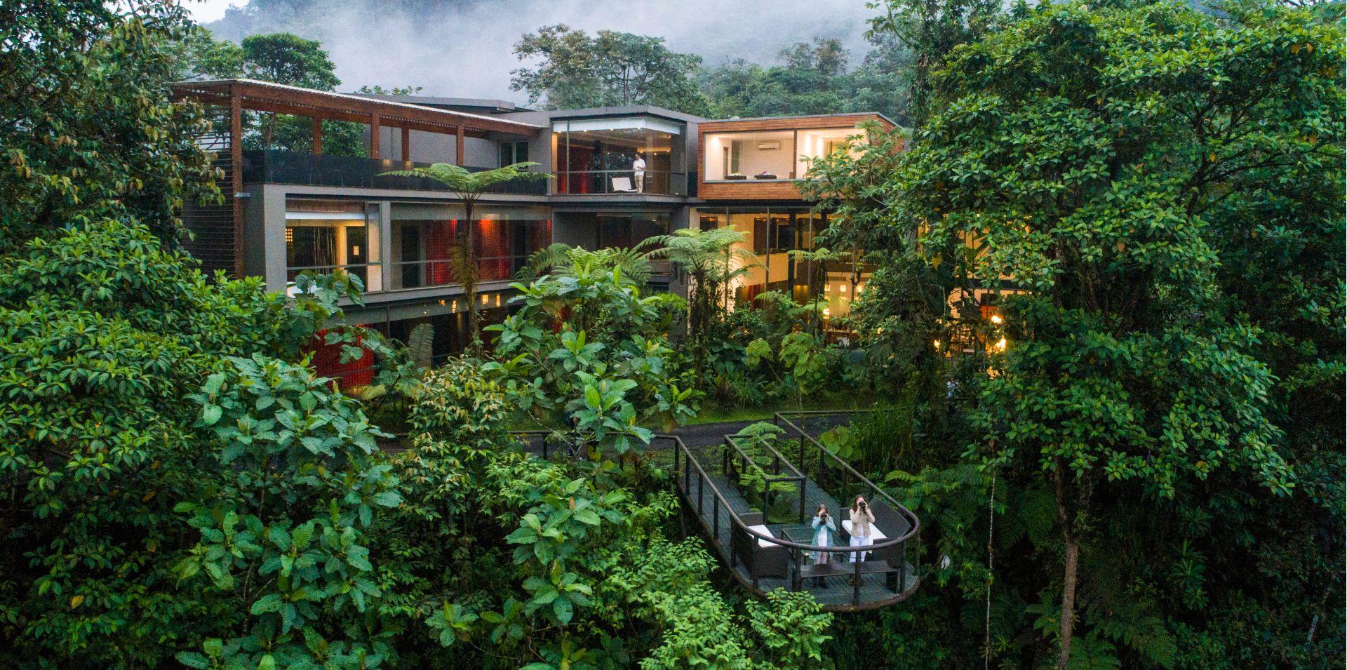 Mashpi Lodge beautifully adapted to the rainforest