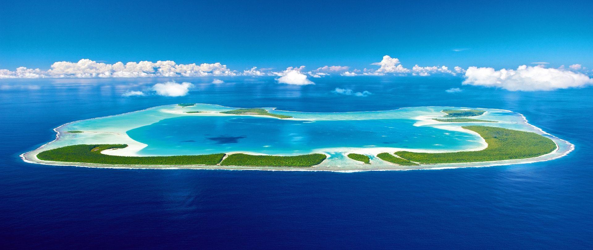 Tetiaroa atoll from above