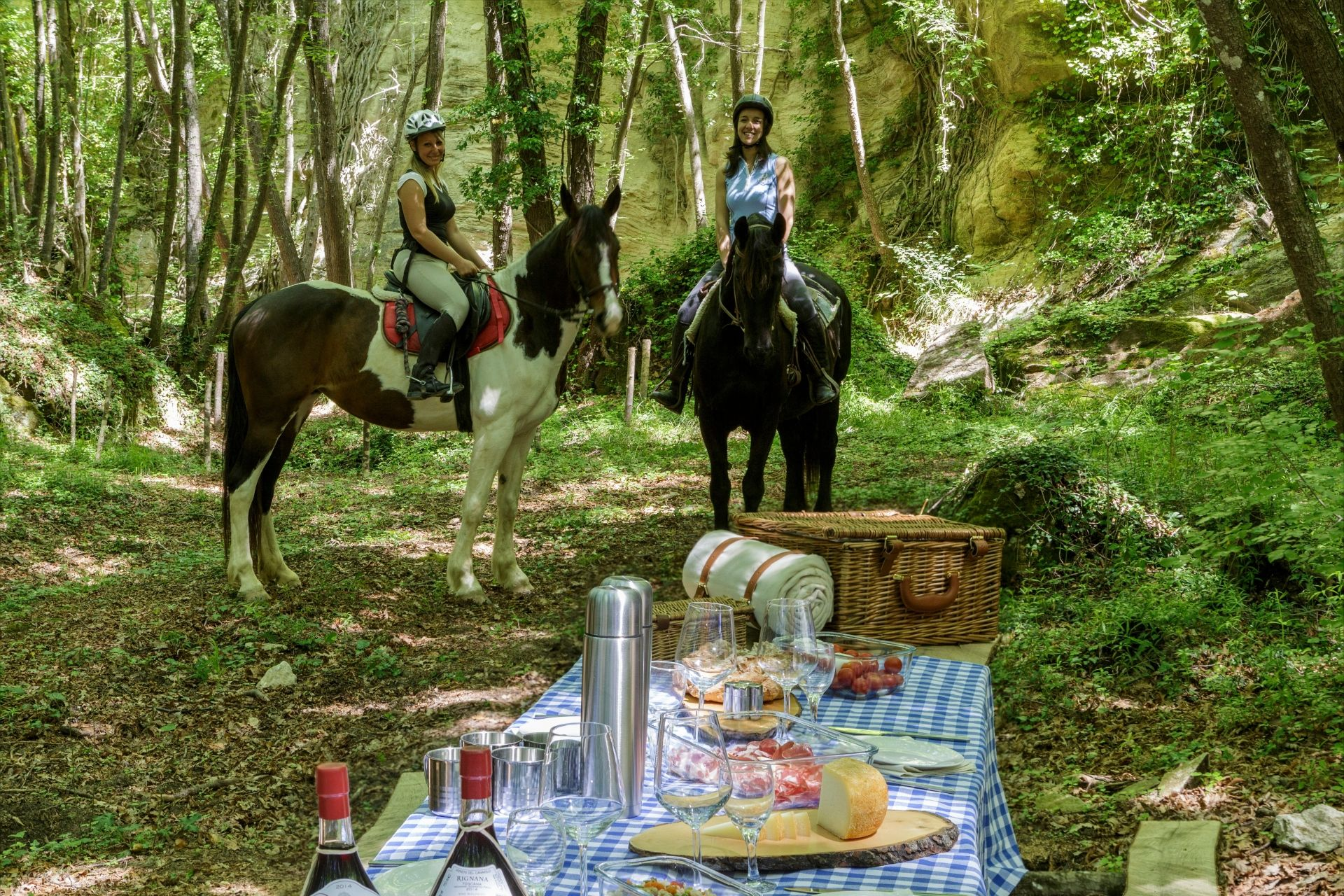 Riding and Picnic in the wood