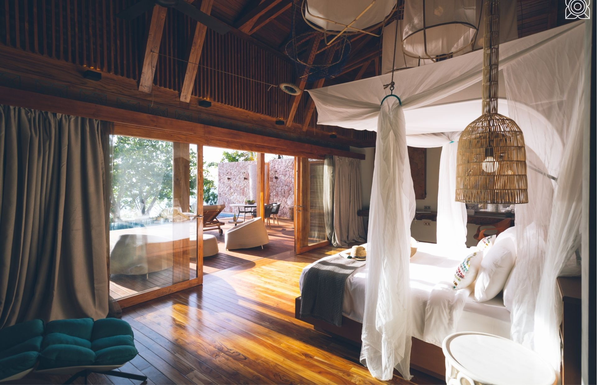 A master bedroom of a 3 bedroom villa